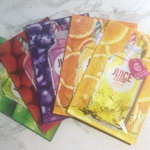 Peripera 5 Different Juice Time Face Masks Bundle